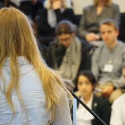 Parlamentarisches Klassenzimmer, Schülerparlament, Jugendparlament, Der mobile Mensch, Universum Bremen