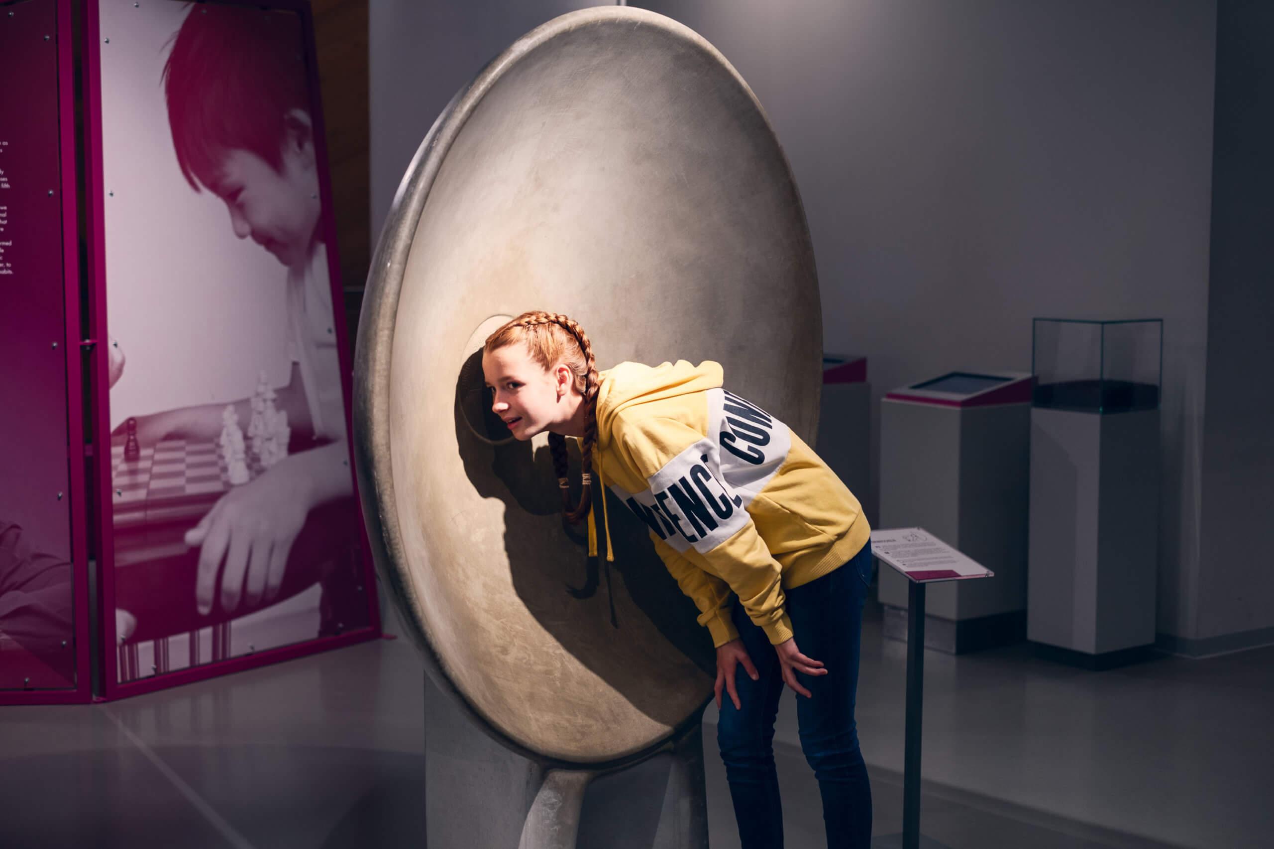 Universum Bremen Exponat Hörmuscheln